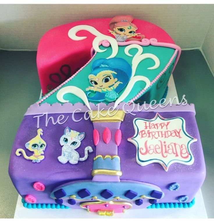 Photo of The Cake Queens - San Carlos, CA, United States. Shimmer & Shine… | Shimmer and shine Cake/Birthday Ideas in 2018 | Pinterest | Birthday, Shimmer and …