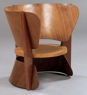 Geneviève Dangles and Christian Defrance; Reversible Chair for Group 4, 1953.