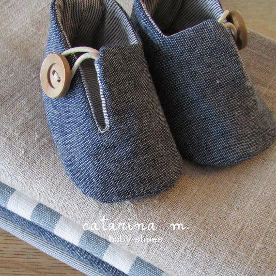 BABY-Schuh-Muster * Modell Nr. 2 (+ zwei Varianten) * Catarina M. (Englisch-Zoll)