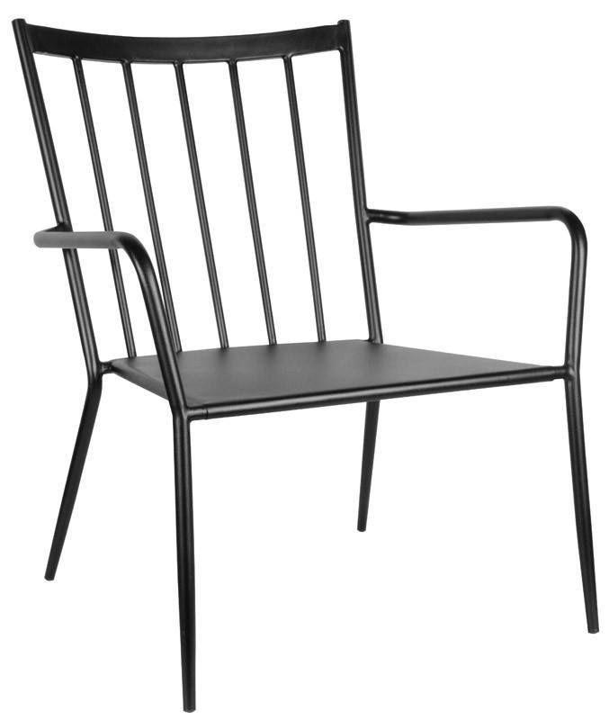 Envy+Ida+Loungestol+Sort+-+Lækker+loungestol+i+et+enkelt+og+stilrent+design.+Den+afslappende+stol+har+et+smart+og+praktisk+design+med+sit+sorte+metalstel.+Stolene+kan+nemt+stables+og+fåes+i+flere+farver.+