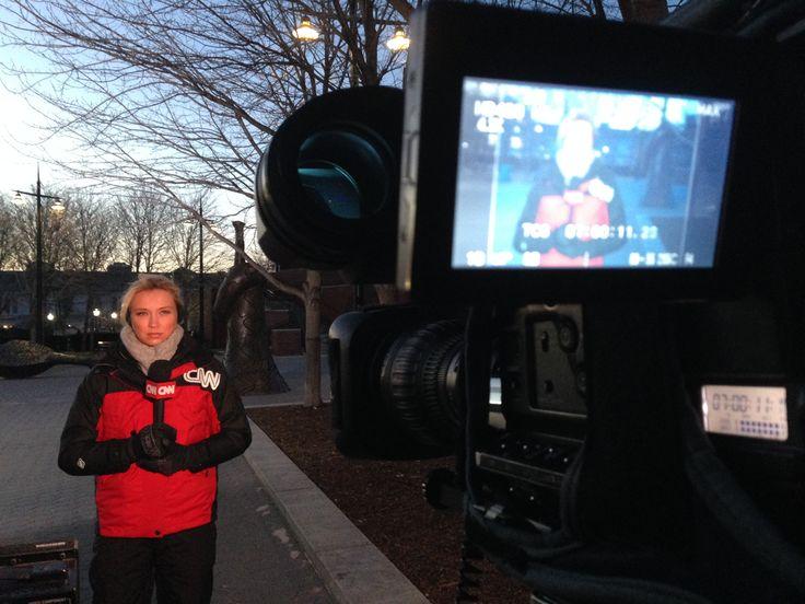 Meteorologist Indra Petersons CNN weather coverage subzero freezing temperatures