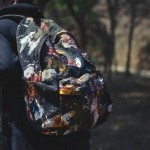 "Eastpak DLAB ""Action Painting"" backpack limited edition (250 worldwide). Abstract paint treatment on durable denim shell. $321"
