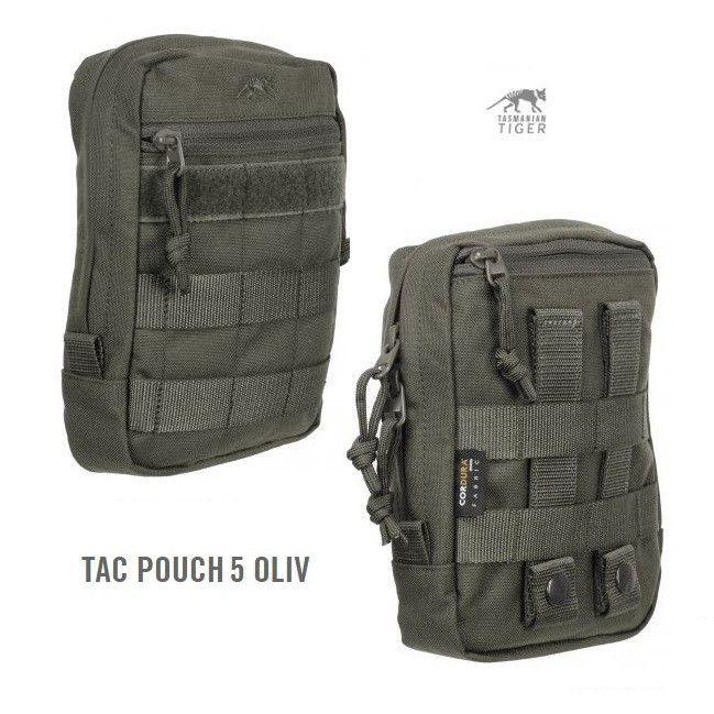 Tasmanian Tiger Tac Pouch 5 verde oliva - Utility - Giberne - Equipment