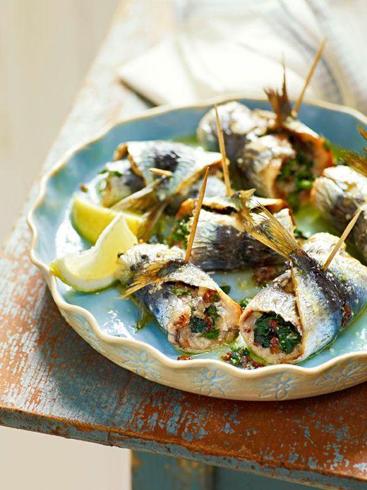 sarde beccafico - Sicilian stuffed sardines