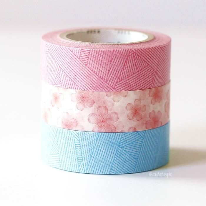 Cherry Blossom + Messy Weave MT Washi Tape #scrapbooking #planners #packaging