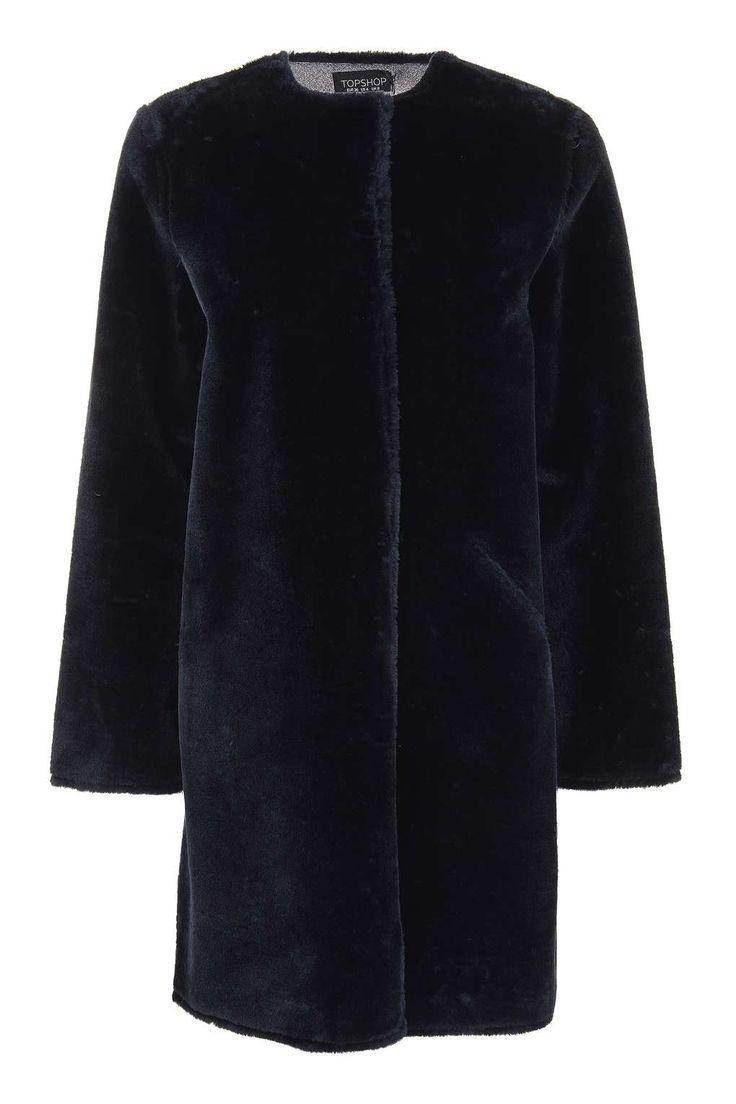 Bonded Faux Fur Coat - Topshop