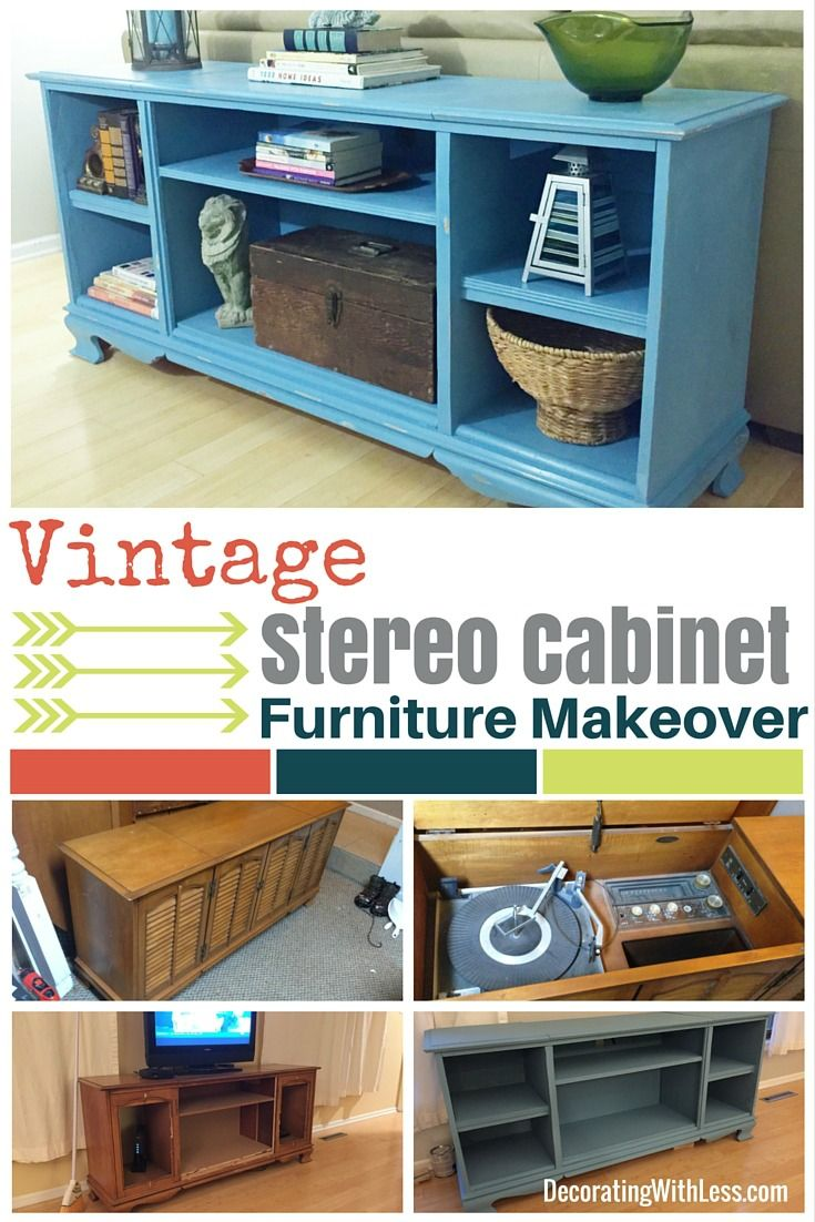 Vintage Stereo Cabinet DIY Furniture Makeover with Homemade Chalk ...