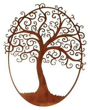 Vintage Finish Metal Tree of Life Wall Art (USA)
