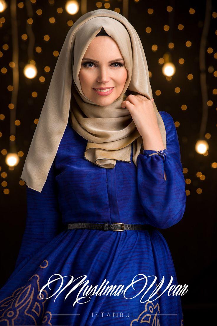 Chiffon Scarf hijab Beige color with silk tassel.
