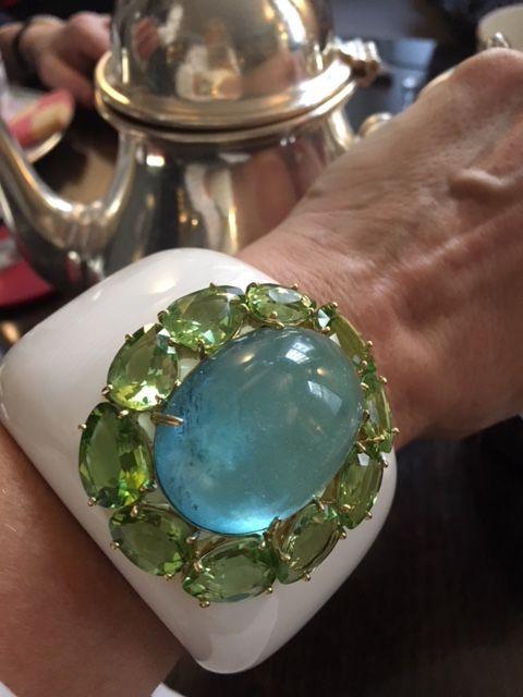 Margot McKinney aquamarine and peridot cuff