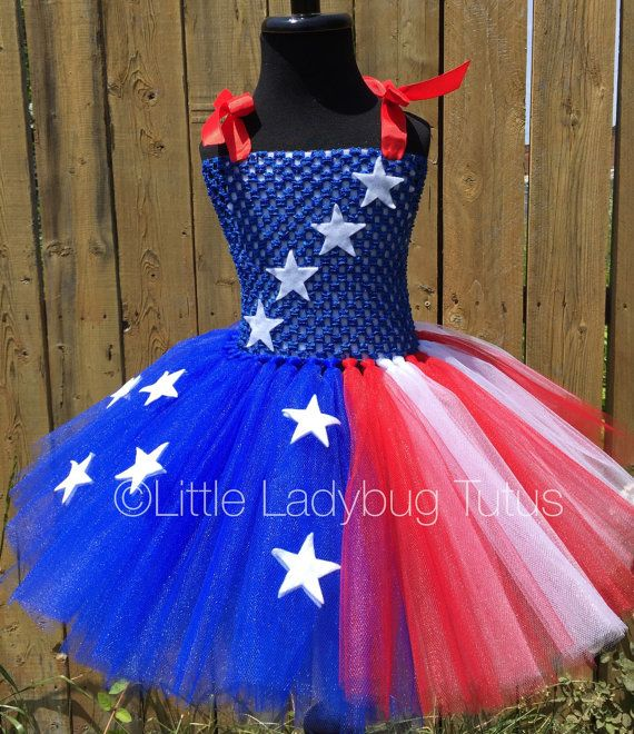 Stars & Stripes Red White and Blue tutu by LittleLadybugTutus