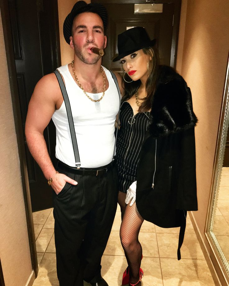 Halloween Costume Gangster costume Mafia costumes Gangster woman Italian mob costumes Couples costumes