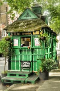 Cabmen's Shelters were built throughout London to provide cab drivers with a place to get in out of the cold and have 'good and wholesome refreshments at moderate prices'