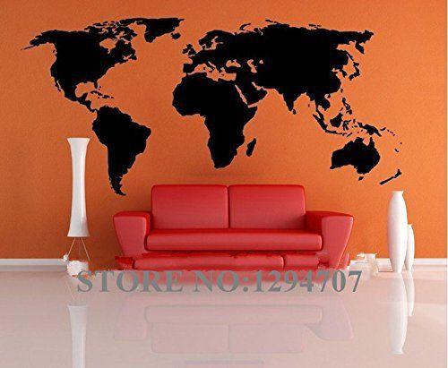 1 pcs 200x90cm Meilleure vente grand monde Global Map mur de vinyle autocollant Home Decor wallpaper autocollants muraux créatif CCR1103:…
