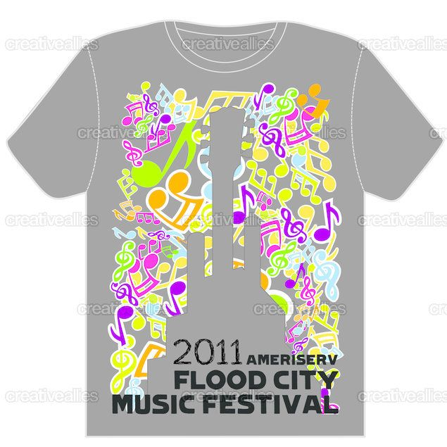 this festival gets the point that it is a music festival as it uses lots of colour and picture of music notes
