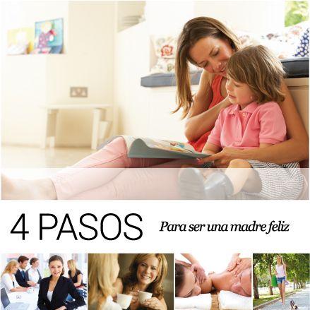 Cuatro pasos, Para ser una madre feliz Las madres cargan el mundo en sus manos. Trabajar, cuidar a los niños y llevar su vida en pareja, son algunos de los múltiples asuntos que estas maestras de la vida libran cada día. La vida en familia no es sencilla e incluso tú como madre lo sientes a veces; no saber cómo manejar una rabieta, llegar tarde al trabajo u olvidar tu aniversario de bodas son problemas de los que no estás exenta. http://www.inkomoda.com/cinco-pasos-para-ser-una-madre-feliz/