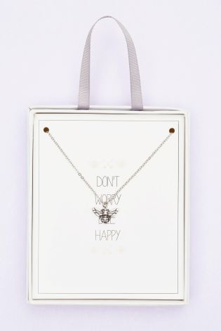 Buy Silver Bee Charm Necklace from the Next UK online shop
