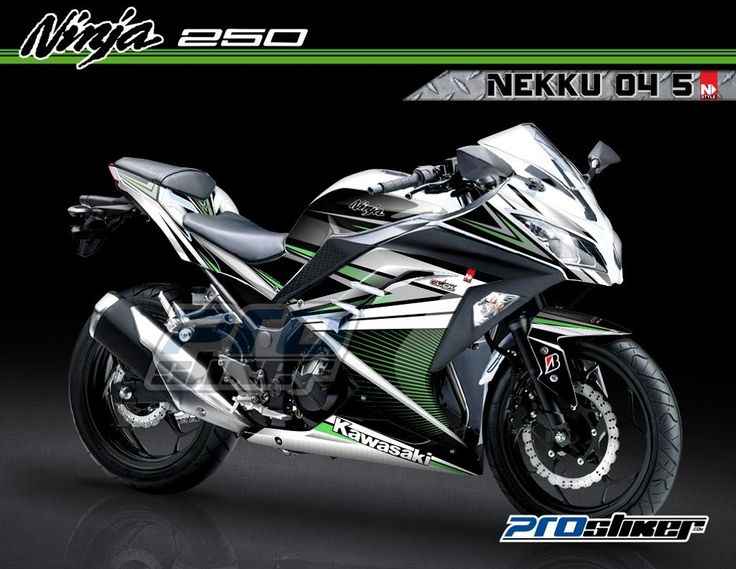 Decal Modifikasi Ninja 250 Fuel Injection Warna Putih