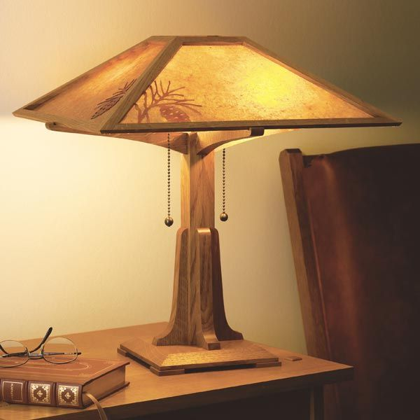 Arts And Crafts Wall Sconce Woodworking Plan From Wood Magazine Mission Lamp Craftsman Lamps Craftsman Table Lamps