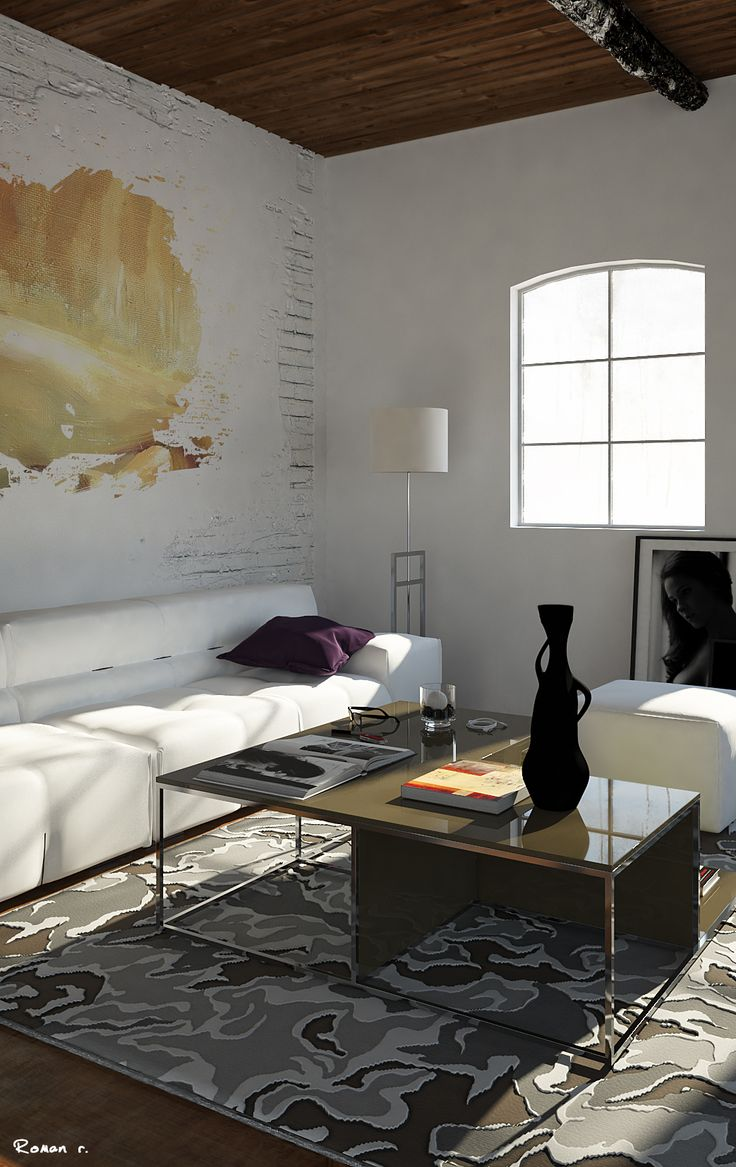 Interior Rural chic. Software: 3ds Max ,Photoshop CC, V-ray 3.0  Interior Designer, architecture, renderings, photography.