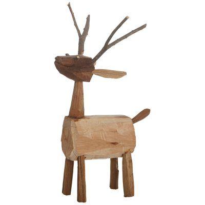 Deer träfigur i gruppen Inredningsdetaljer / Dekoration / Juldekoration hos RUM21.se (130096)