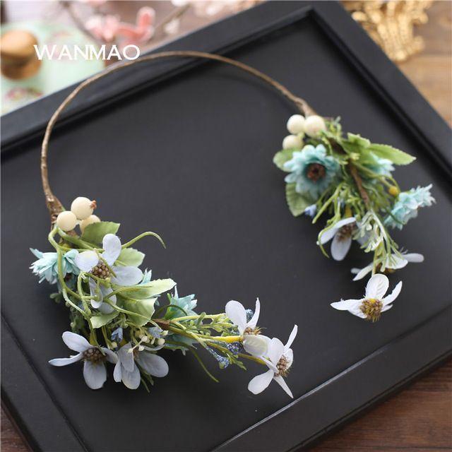 Bruid zoete hoofdtooi bloemen haar ornamenten Sen afdeling haarband seaside photo handleiding hoofd bloem accessoires HD0107