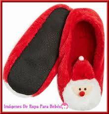 Resultado de imagen para pantuflas para navidad niños