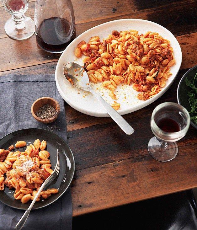 Australian Gourmet Traveller and Giovanni Pilu Italian pasta main course recipe for malloredus alla campidanese