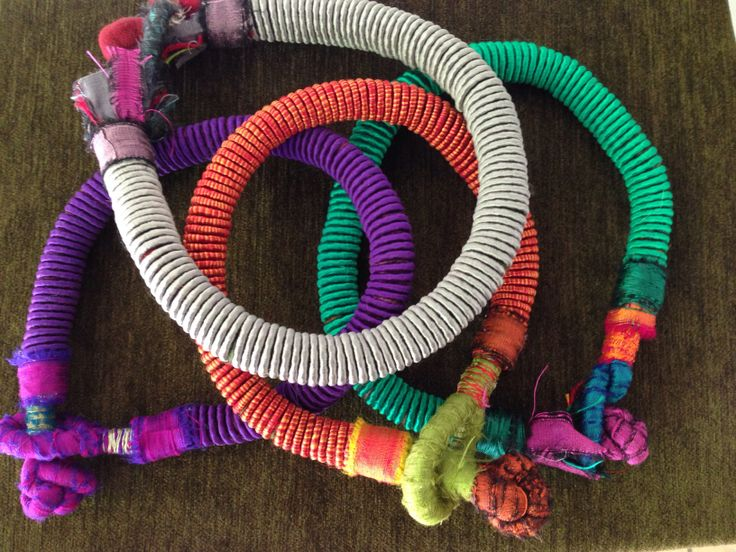 Pure silk African style necklaces
