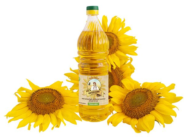 Logo and label for sunflower oil. The brief was to create an illustrated logo that looks traditional.