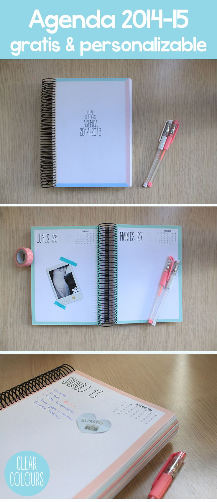 Clear Colours: Agenda 2014-2015 Gratis y personalizable