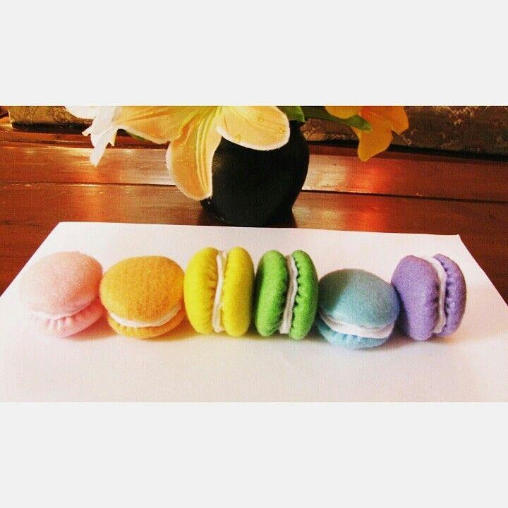 Macaron felt DIY (마카롱)