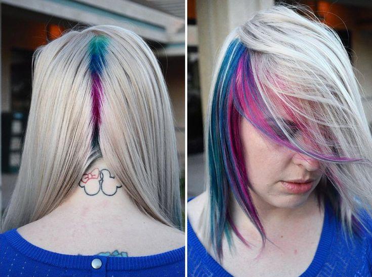más de 25 ideas increíbles sobre cabello azul y rosa en pinterest