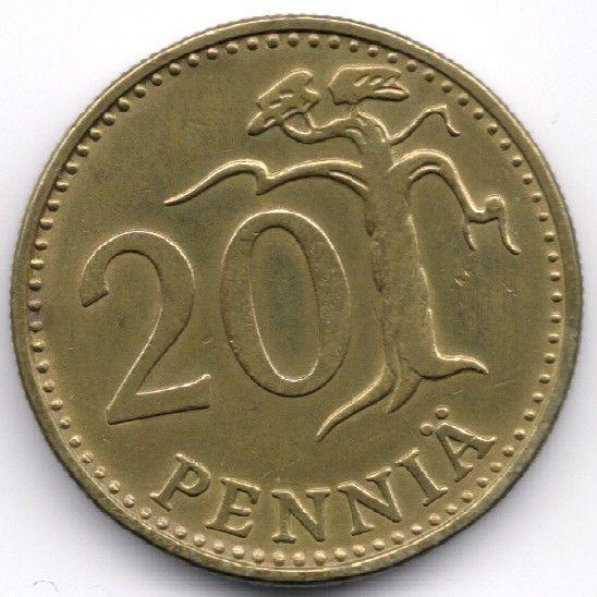 Finland 20 Penniä 1963 Veiling in de Finland,Europa (niet of voor €),Munten,Munten & Banknota's Categorie op eBid België