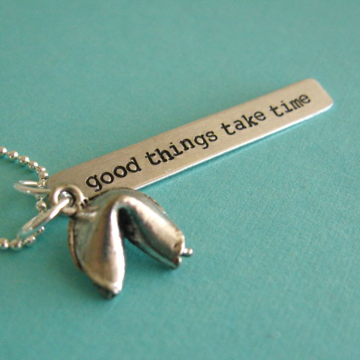 Fortune Cookie Necklace - Personalized fortune - silver plated fortune cookie custom necklace. $26.00, via Etsy.