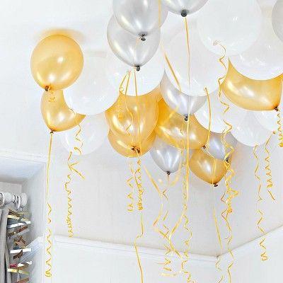 Ballons irisés chic party - Lot de 30