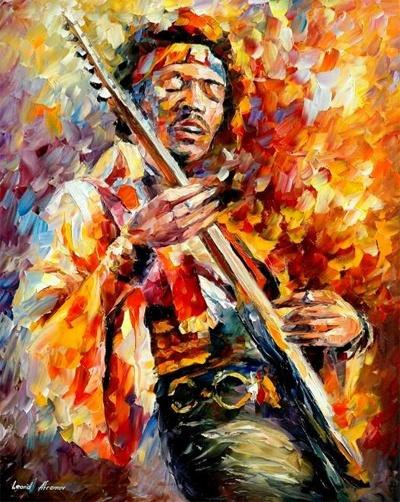 Hendrix - leonid Afremov