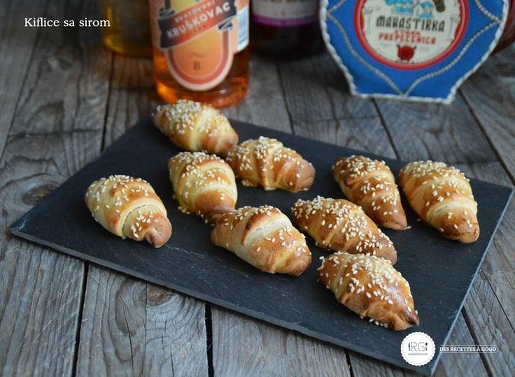 Croissants apéritifs à la feta serbes Kiflice sa sirom