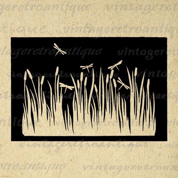 Printable Graphic Dragonflies Image Illustration Download Digital Vintage Clip Art Jpg Png Eps 18x18 HQ 300dpi No.3327 @ vintageretroantique.etsy.com #DigitalArt #Printable #Art #VintageRetroAntique #Digital #Clipart #Download