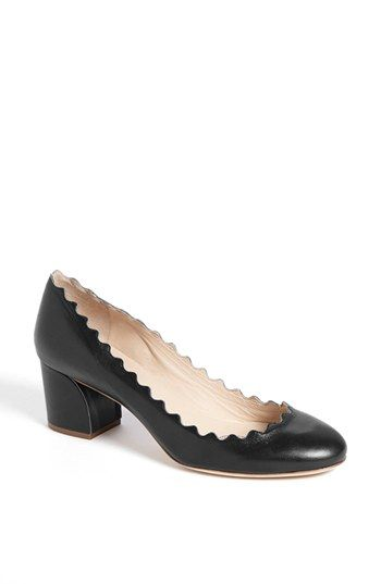 Chloé 'Rosa' Scalloped Low Heel Pump available at #Nordstrom love this shoe. reminds me of a pair of pappagallos I had in high school.  but not at $550