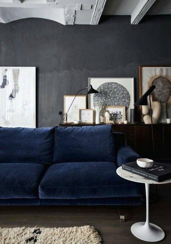 Dark Grey Couch Living Room Blue Sofa Gray Walls Light Dark Grey Couch Living Room | Living Room Decor Blue Sofa, Grey Couch Blue Walls, Blue Living Room Decor