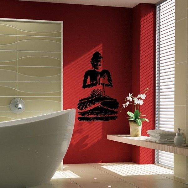 "Sticker ""Bouddha en méditation""  http://www.artandstick.be/custom.php5?ref=313032362c38&n=Stickers-Salle-de-bain-Bouddha-en-meditation"