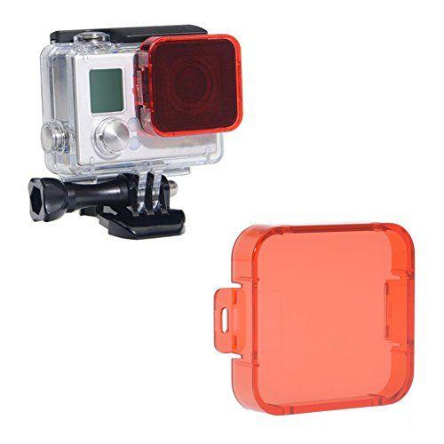 Neewer® Lente de Cámara Rojo Brillante Encaje En Filtro Lente Protector para GoPro HD HERO 4/3+ - http://www.midronepro.com/producto/neewer-lente-de-camara-rojo-brillante-encaje-en-filtro-lente-protector-para-gopro-hd-hero-43/