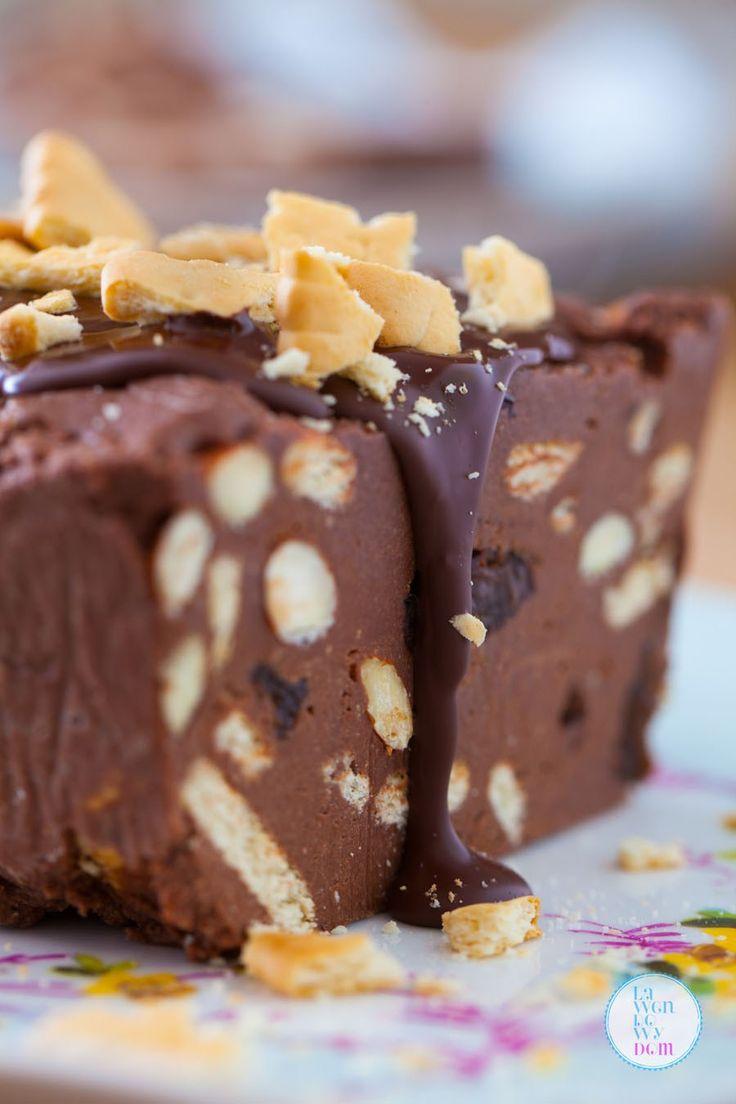 blok czekoladowy retro gotowanie domowy suszone śliwki