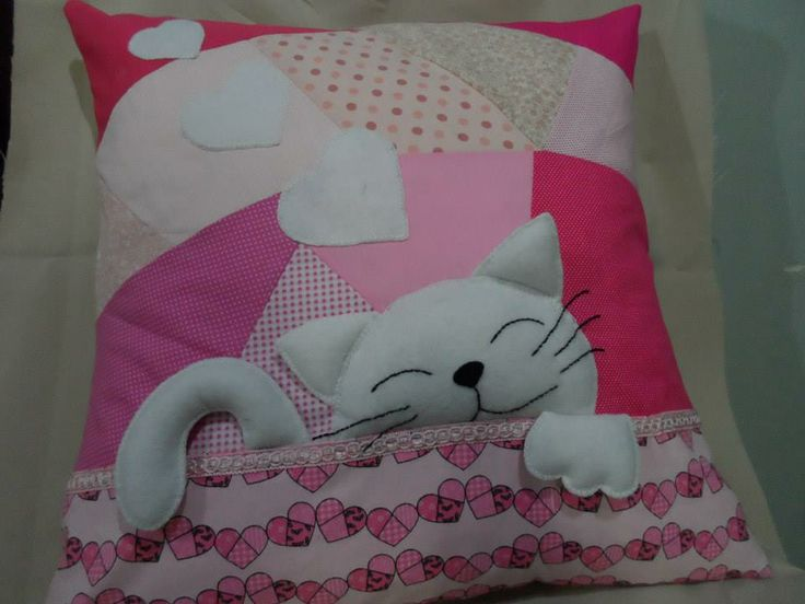 Cute Heated Pillows : 42 best images about ALMOHADONES!!!! on Pinterest Felt applique, Cute birds and Cute pillows