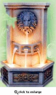 4' tall spitting lion: Spitting Lion, Be Nice, Water Features, Tall Spitting, Waterfall Features, Features Indoors