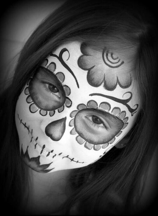 Sugar Skull Face Paint Www.facesbyaudrey.com