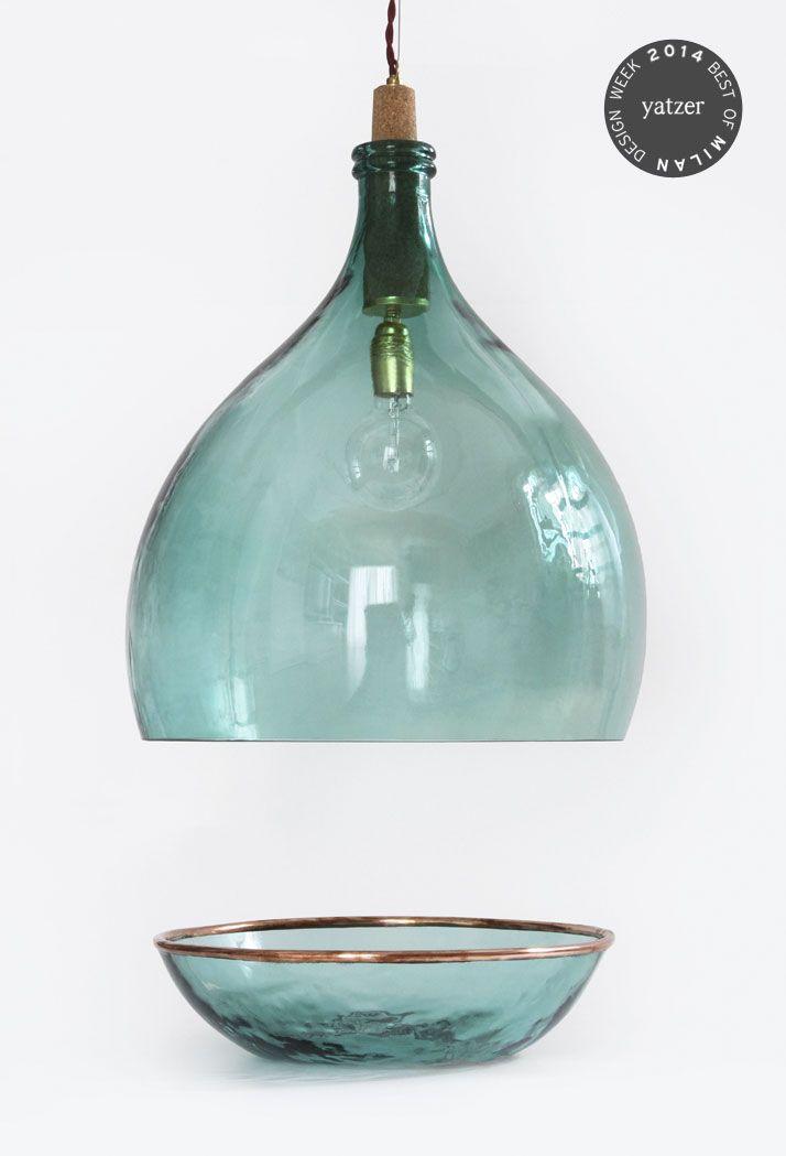 Vintage Demijohn Collection by Luca Martorano and Mattia Albicini http://www.yatzer.com/best-of-milan-design-week-2014