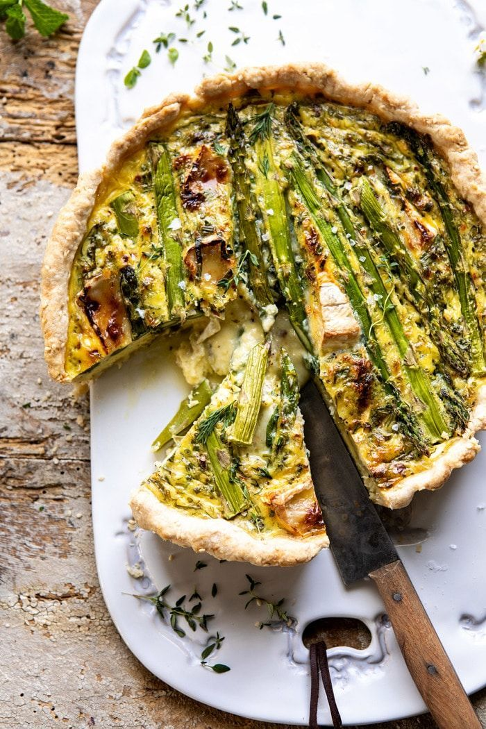 Asparagus And Brie Quiche Half Baked Harvest Recipe Half Baked Harvest Recipes Brunch Recipes