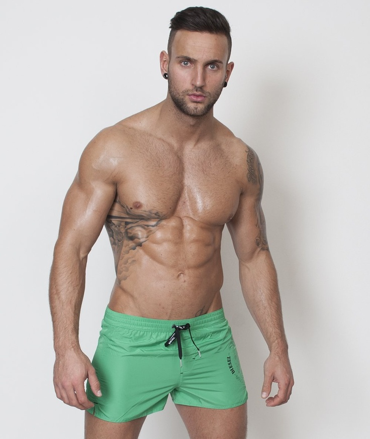 Men's Brief Swimsuit & Men Bathing Suit swimwear- Bright Coral 3E32mHJd